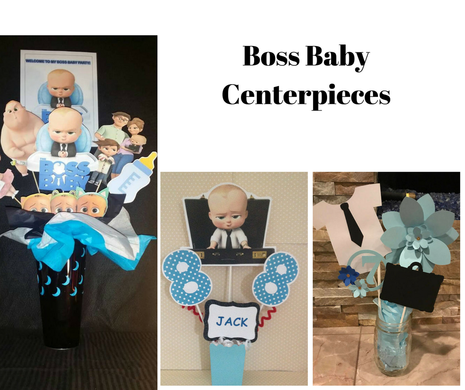 Boss Baby Party Centerpieces | Birthday Party Decorations ...