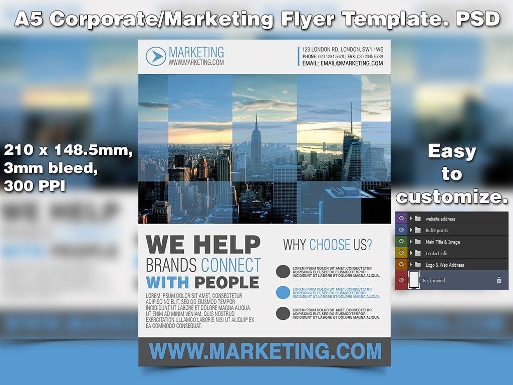 Marketing Flyer Template Psd  Flyer Template