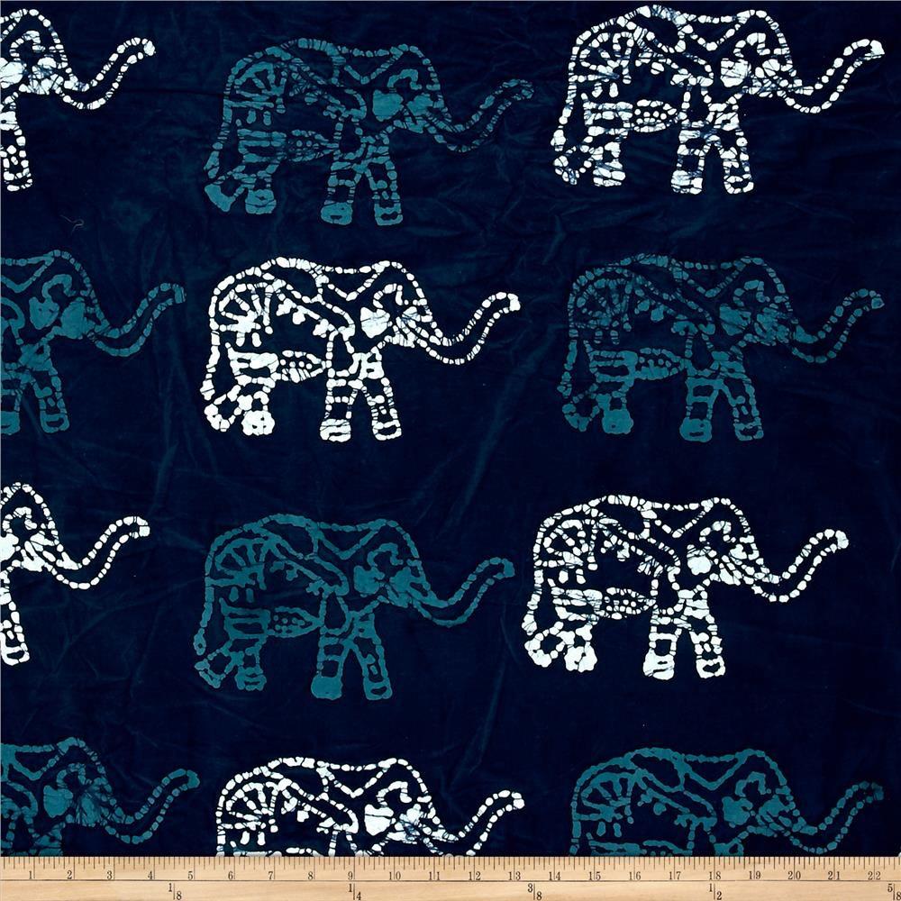 Blue Bazaar Batik Large Elephant Blue (With Images