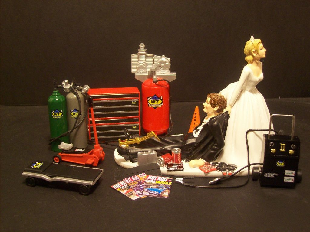 Auto Mechanic Wedding Cake Topper Mac Tools Snap On Funny Grooms