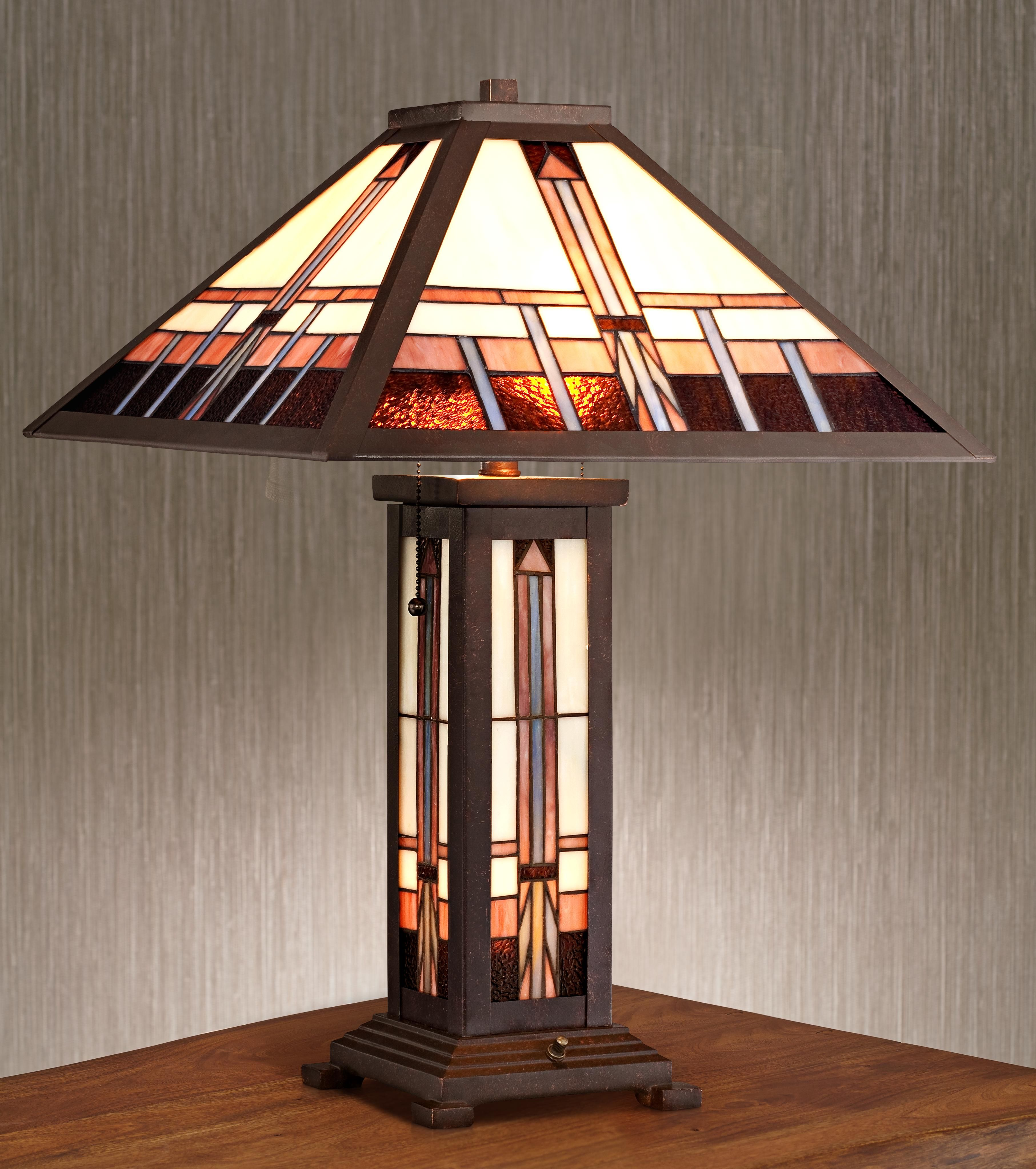 Robert Louis Tiffany Alfred Mission Tiffany Table Lamp   Style # 8C278