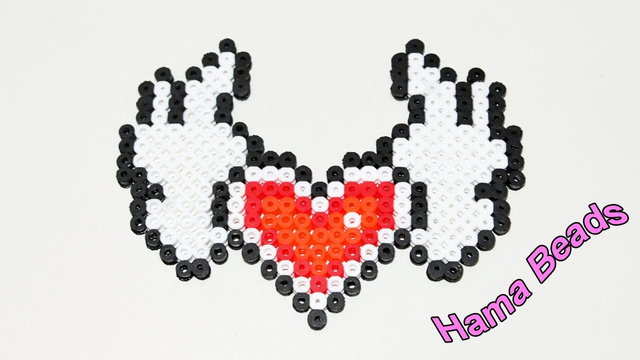 Cuore Alato con Pyssla Hama Beads Heart With Wings Tutorial !
