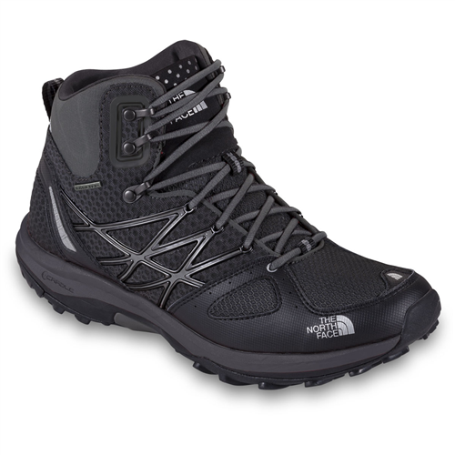 The North Face Ultra Fastpack Mid GTX Shoes for Men - TNF Black / Dark Shadow Grey