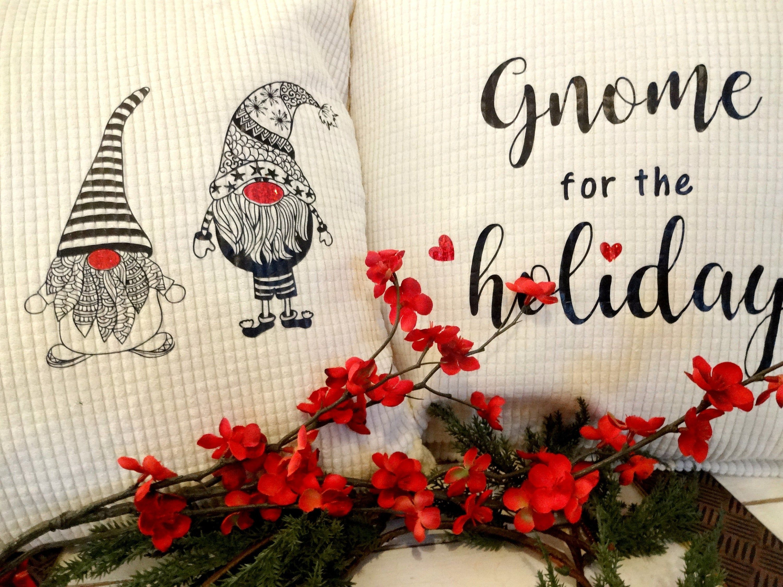 Christmas gnomes throw pillow cover set gnome for holidays