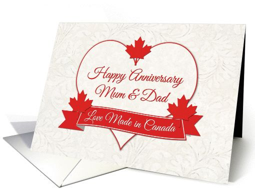 To give to canadian parents on their wedding anniversary image