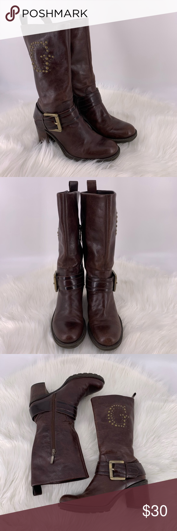 ⭐️ Brown Pull On Overreach Boots Size Small ⭐️
