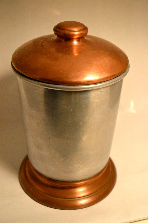... Bronze Kitchen Canisters Vintage Hyde Park Silent Butler Mid Century  Coppertone Bread ...