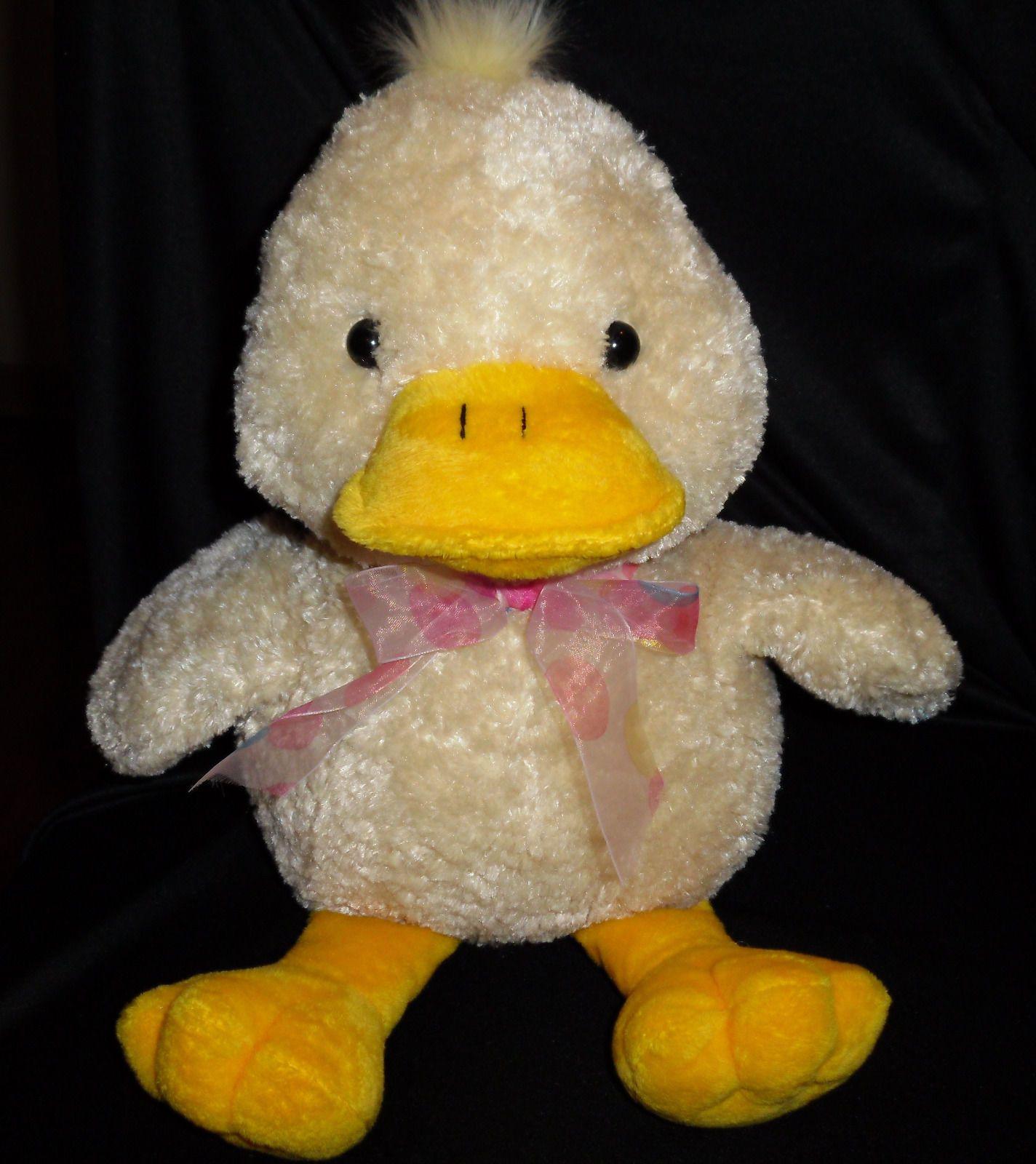 American Greetings Carlton Cards Duck Yellow Large Big Stuffed Plush