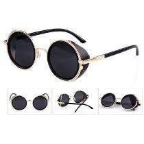 e767c09dc0267 Óculos De Sol Redondos Blinder Retrô Vintage Lennon Ozzy ...