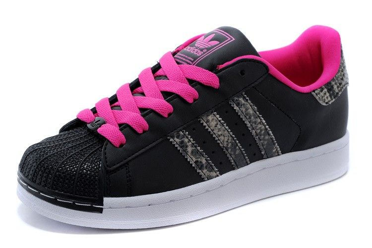 Adidas Superstar II Womans Originals Classic Casual Sneakers M20901 Black/ Pink/White