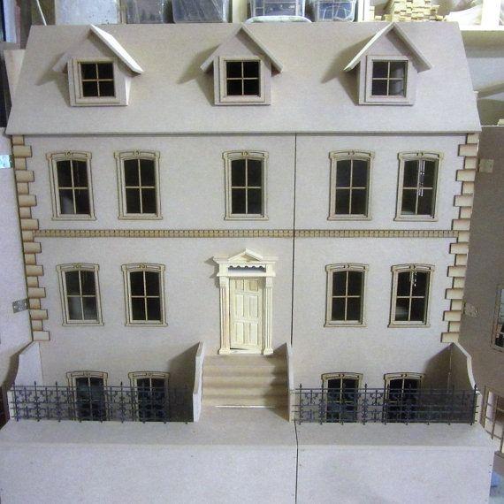The Dalton 10 Room House Including The Basement 1 12kit Etsy In 2020 Georgian Homes House Dalton House