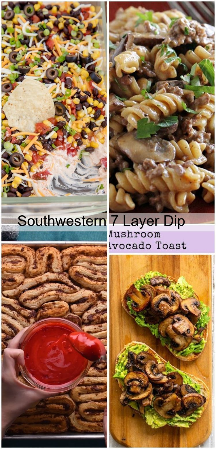 Southwestern 7 Layer Dip #7layerdip Southwestern 7 Layer Dip,  #dip #food #Layer #Southwestern #7layerdip