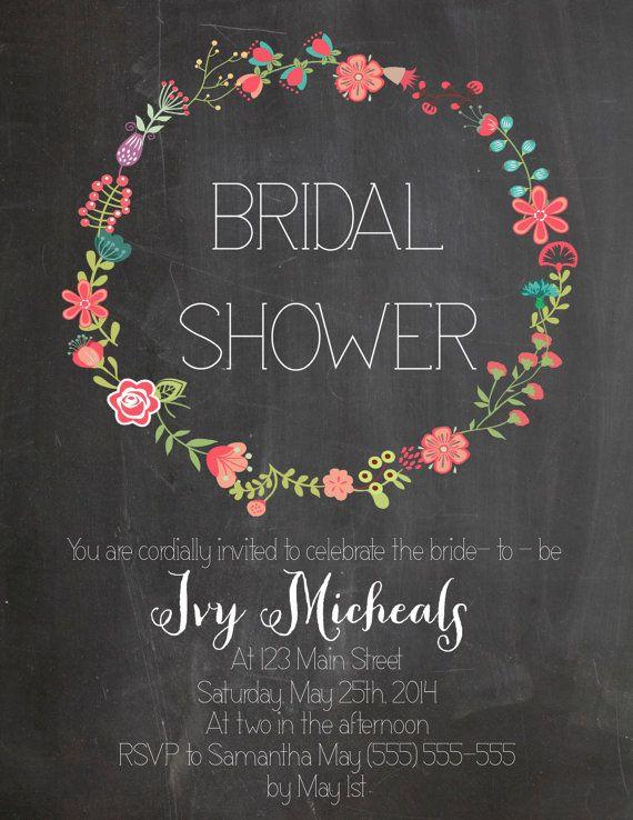 Bridal Shower Invitation Bridesmaids Pinterest