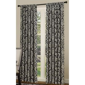 Good Allen + Roth 84 In L Black And White Bristol Curtain Panel @ Loweu0027s $29.97