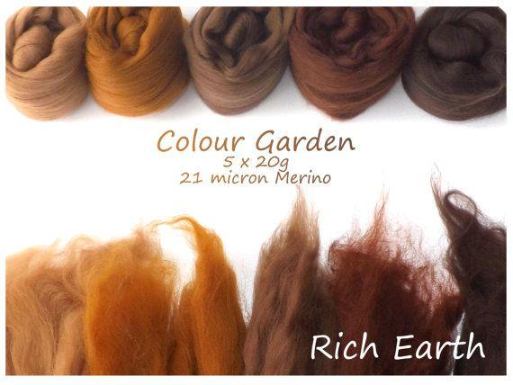 Ombra di marrone Merino imposta  lana Merino 21 micron  di nunoco