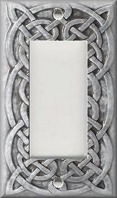 Light Switch Plate Cover Home Decor Celtic Knot Light Grey