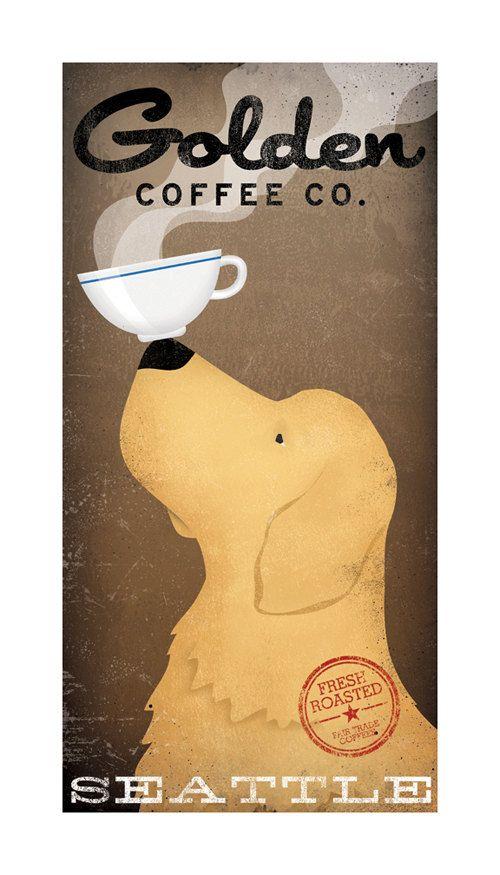 Personalized Golden Retriever Coffee Beer Wine Bourbon Donut Etsy Coffee Poster Lavazza Coffee Lavazza Coffee Machine