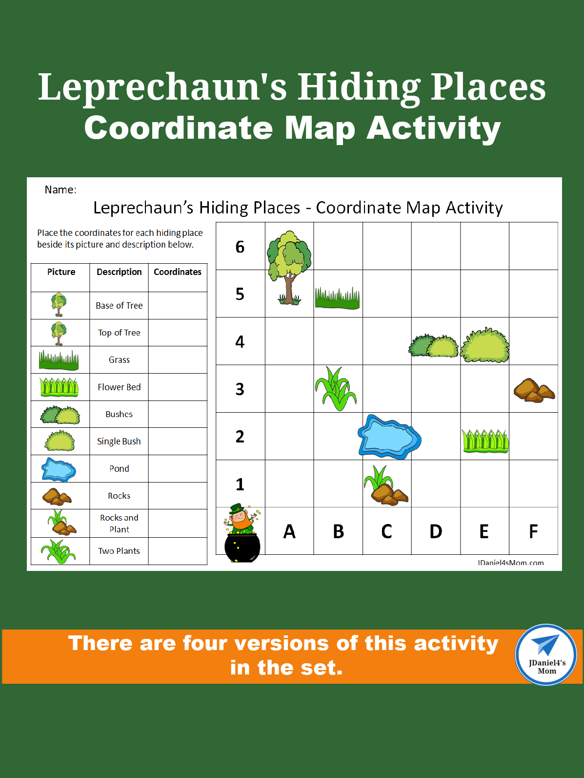 Coordinate Map Activity Leprechaun S Hiding Places Jdaniel4s Mom In 2021 Map Activities Geography For Kids Early Learning Math [ 1593 x 1197 Pixel ]