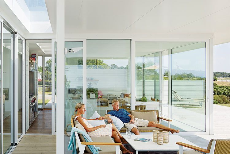 Modern swedish family dream getaway with outdoor seating area love the indoor outdoor connection