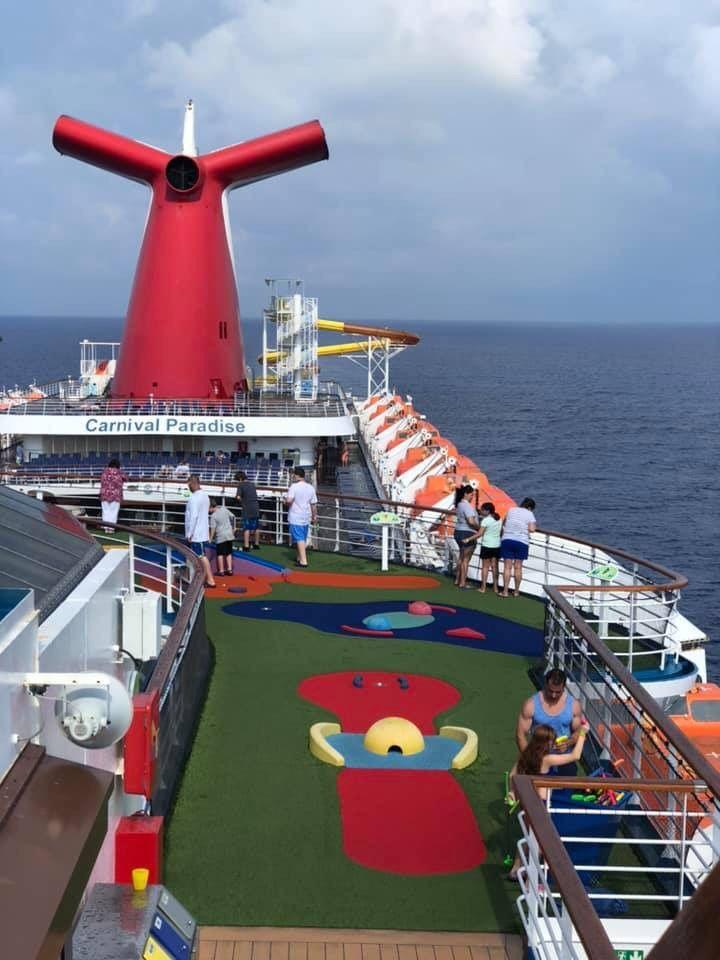 Carnival paradise 2019 family cruise lido deck family