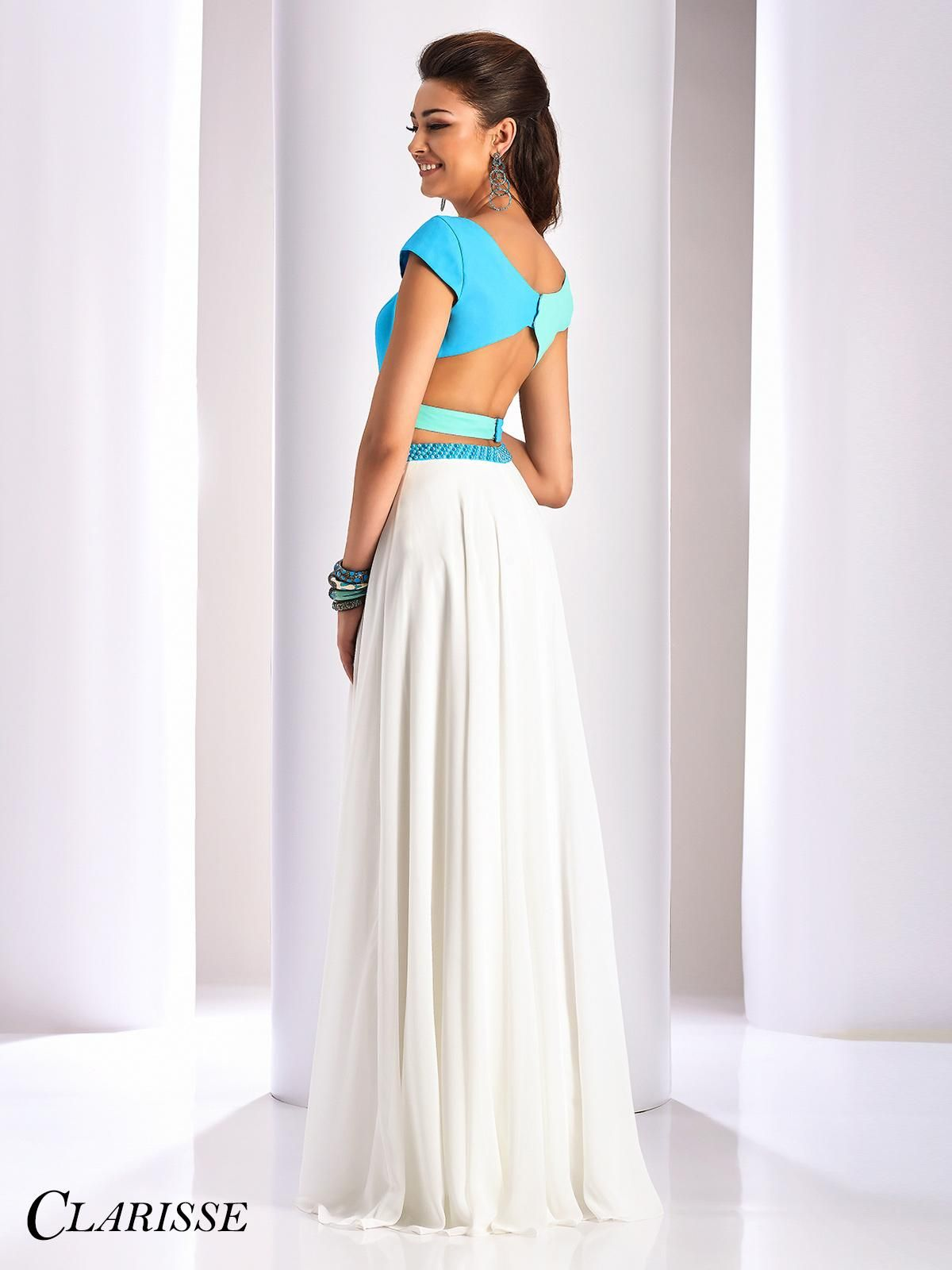 9a2c358d618 Unique Two Piece Clarisse Prom Dress 3070. Stand out in this unique prom  dress with its flowing chiffon skirt