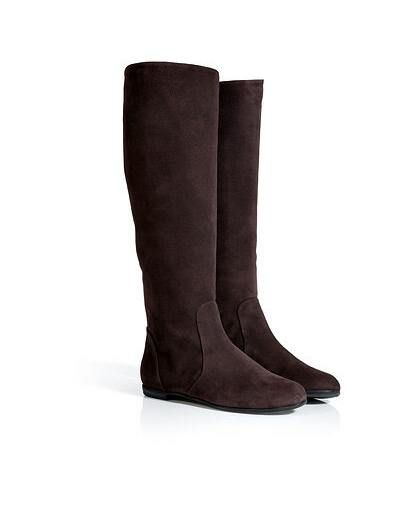 Giuseppe Zanotti Dark Chestnut Brown Suede Flat Boots  $1,046  A sophisticated way to kick start your autumn wardrobe, Delightful flat suede boots