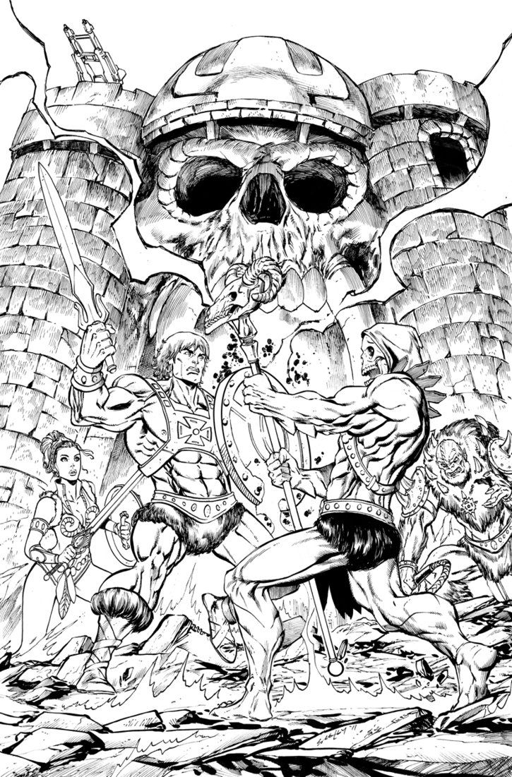 Mega Coloring Pages * 9 he-man and the masters of the universe ... | 1101x725