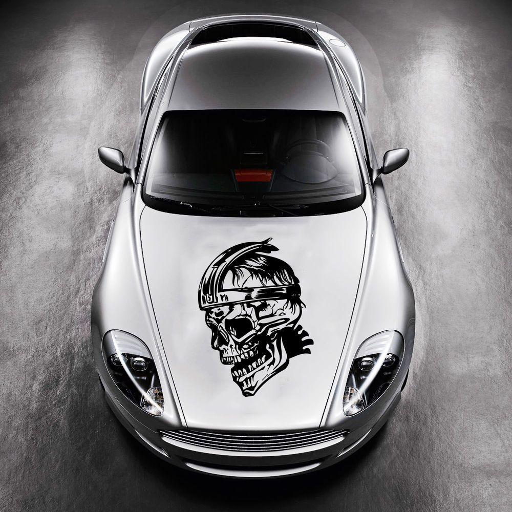 Car sticker design pinterest - Car Hood Vinyl Sticker Decals Graphics Design Art Skull Warrior Tattoo Sv4816