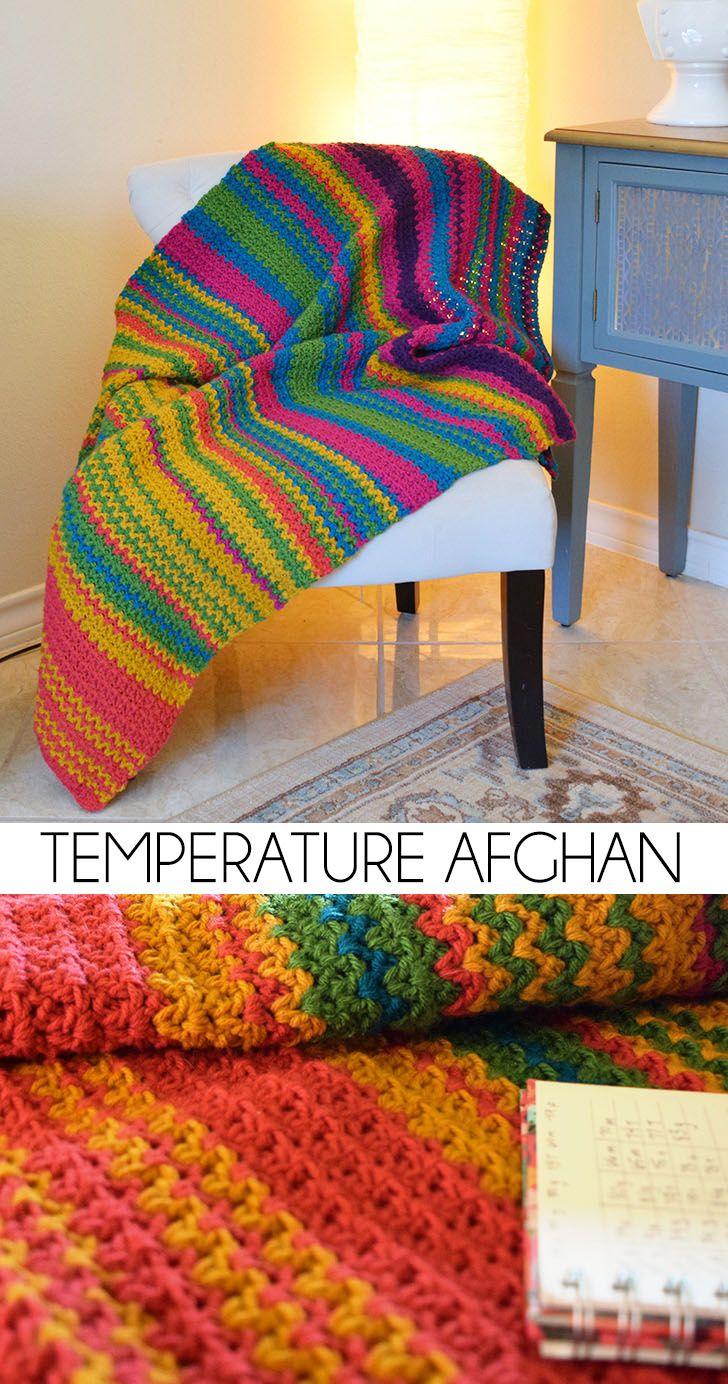 Temperature Afghan Crochet Project | Gehäkelte decken, Decken und Häkeln