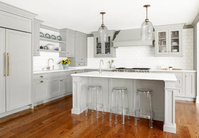 Image result for gray cabinets wood floor