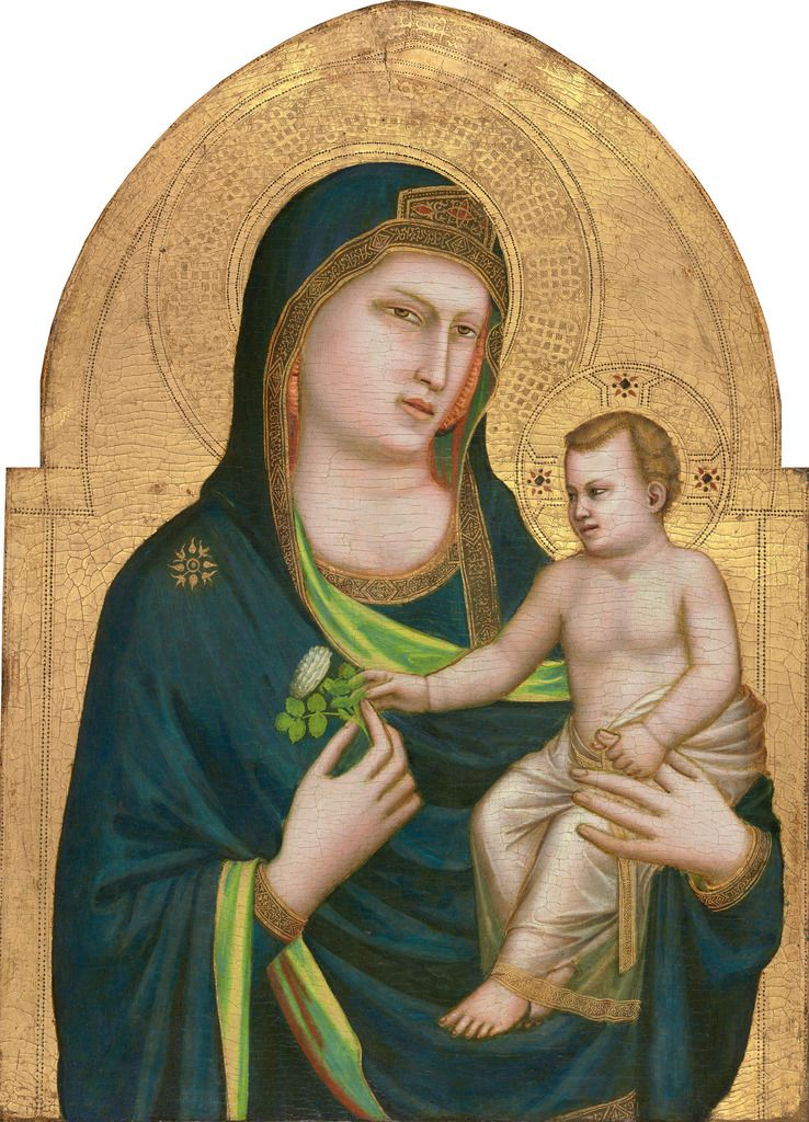 "Giotto ""Madonna con bambino"" 1325-30, National Gallery of Art, Washington"