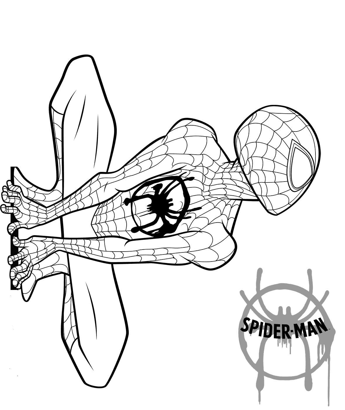 Nice Spider Man Into The Spider Verse Coloring Pages that