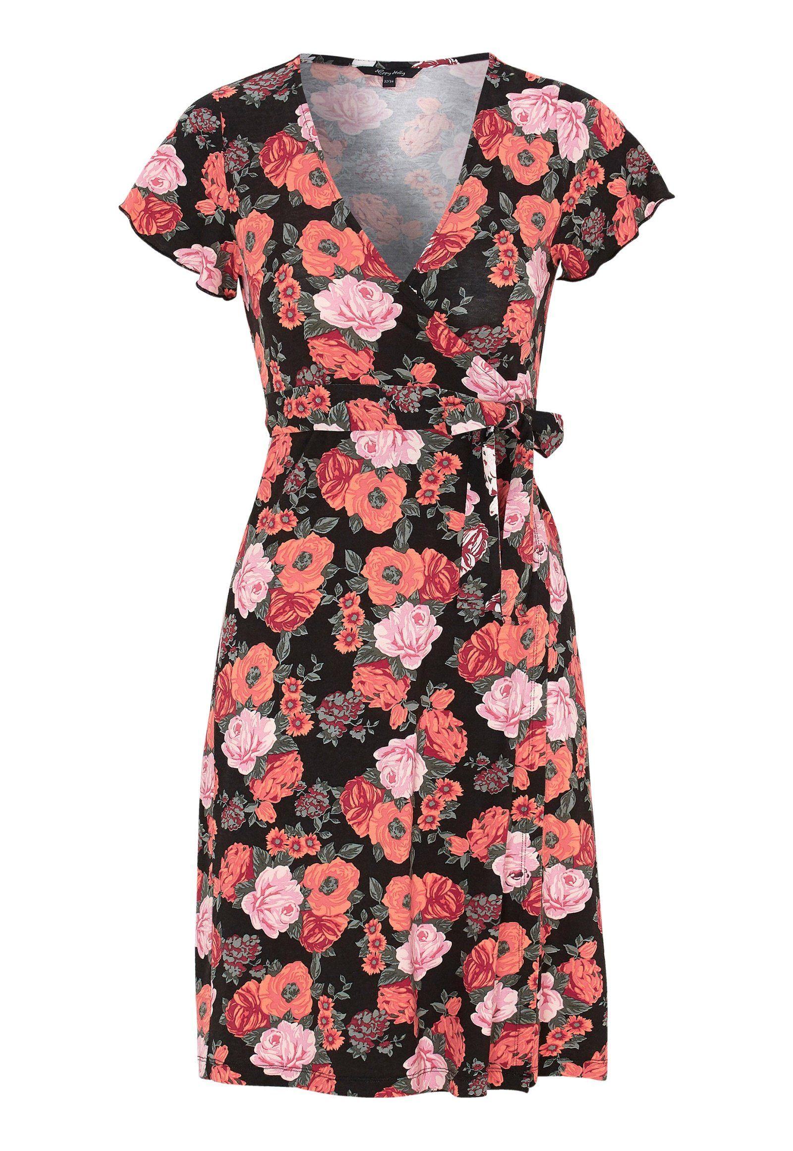 42200fdbf126 Happy Holly Amanda wrap dress Black   Patterned - Bubbleroom ...