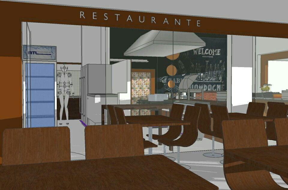 Small Restaurant Project. Brasilia, Brasil