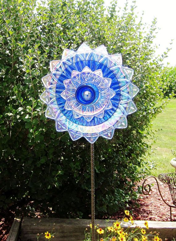 how to make glass flowers for the garden