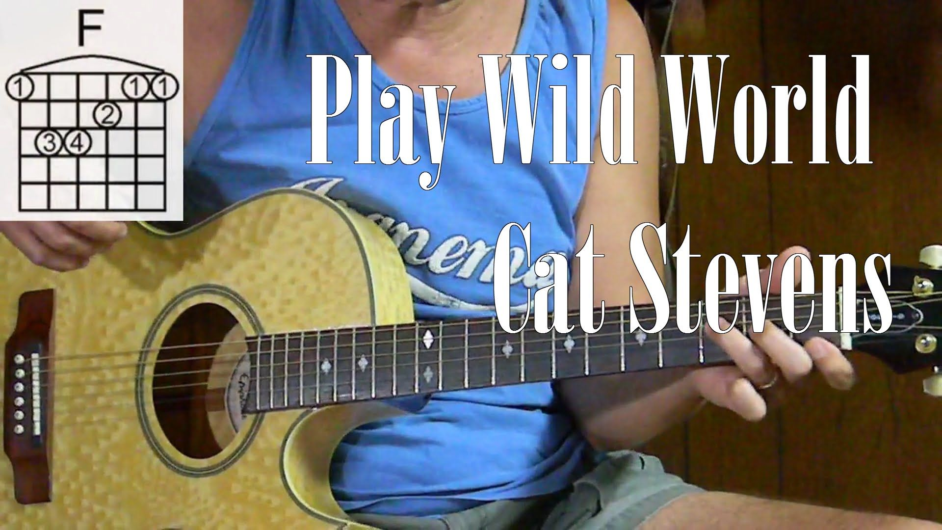 How To Play Cat Stevens Wild World Learn Songs On Acoustic Guitar