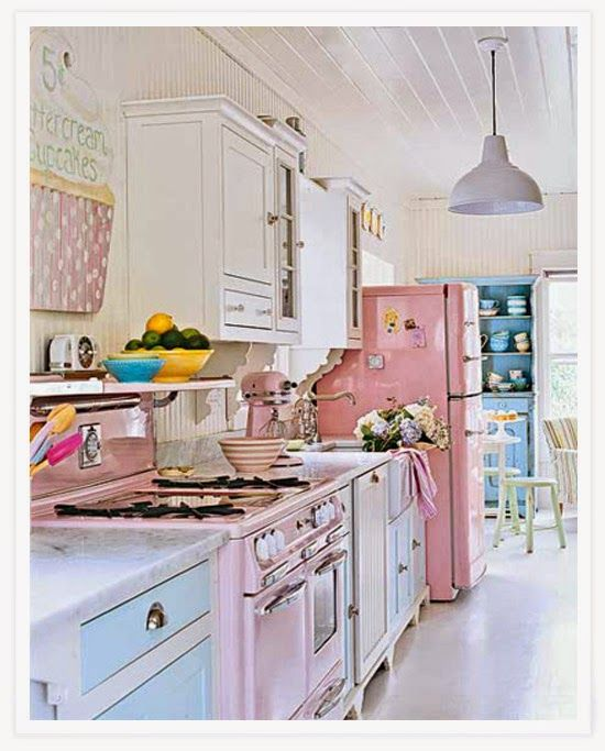 Cocina Shabby Chic Life 3 Pinterest Kitchen Pastel Kitchen - Cocina-shabby-chic