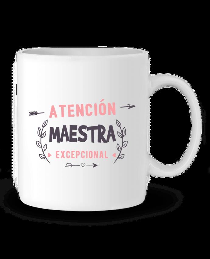 Taza Cerámica Atención maestra exceptional por #tazasceramica Taza Cerámica Atención maestra exceptional - tunetoo #regalos #creativos #profesoras #alumnos #infantil #primaria #camisetas #totebags #tazas #tazasceramica