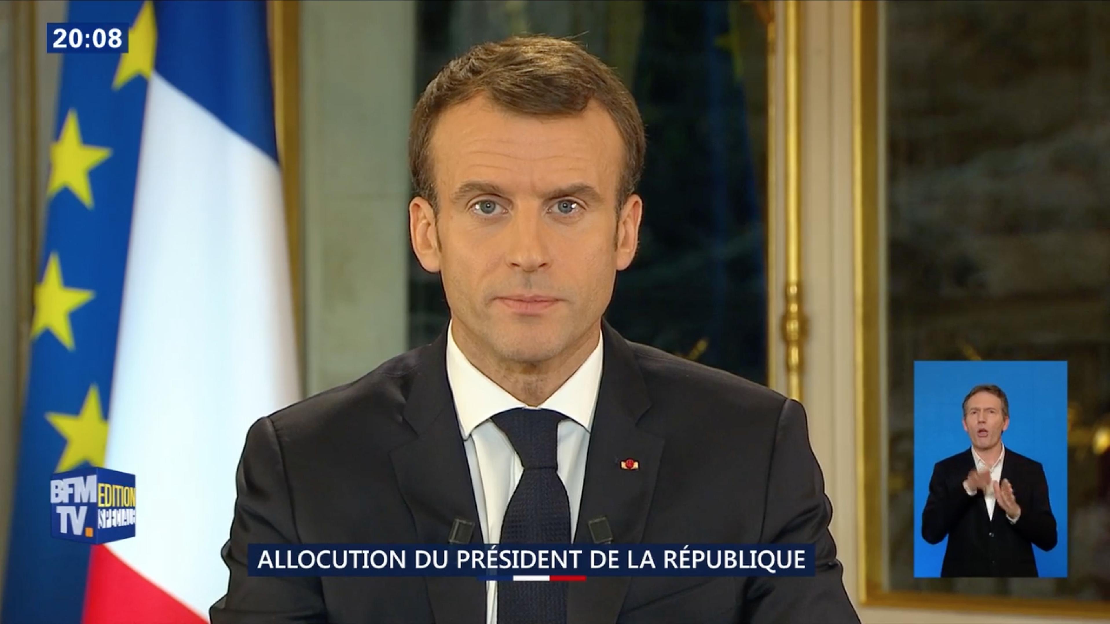 Gilets Jaunes les annonces d'Emmanuel Macron Emmanuel