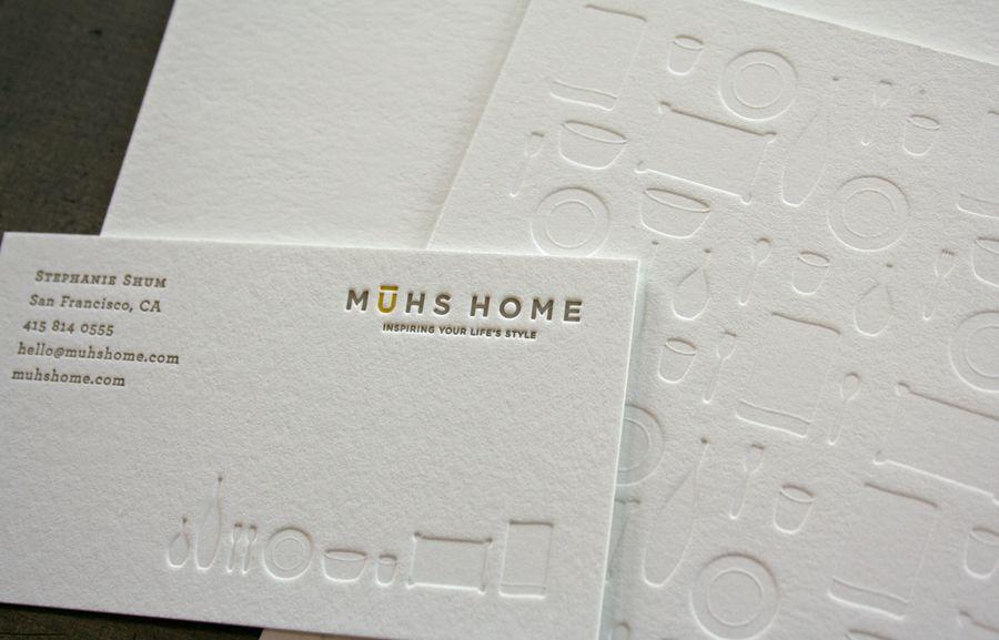Muhs Home Stationery #Letterpress