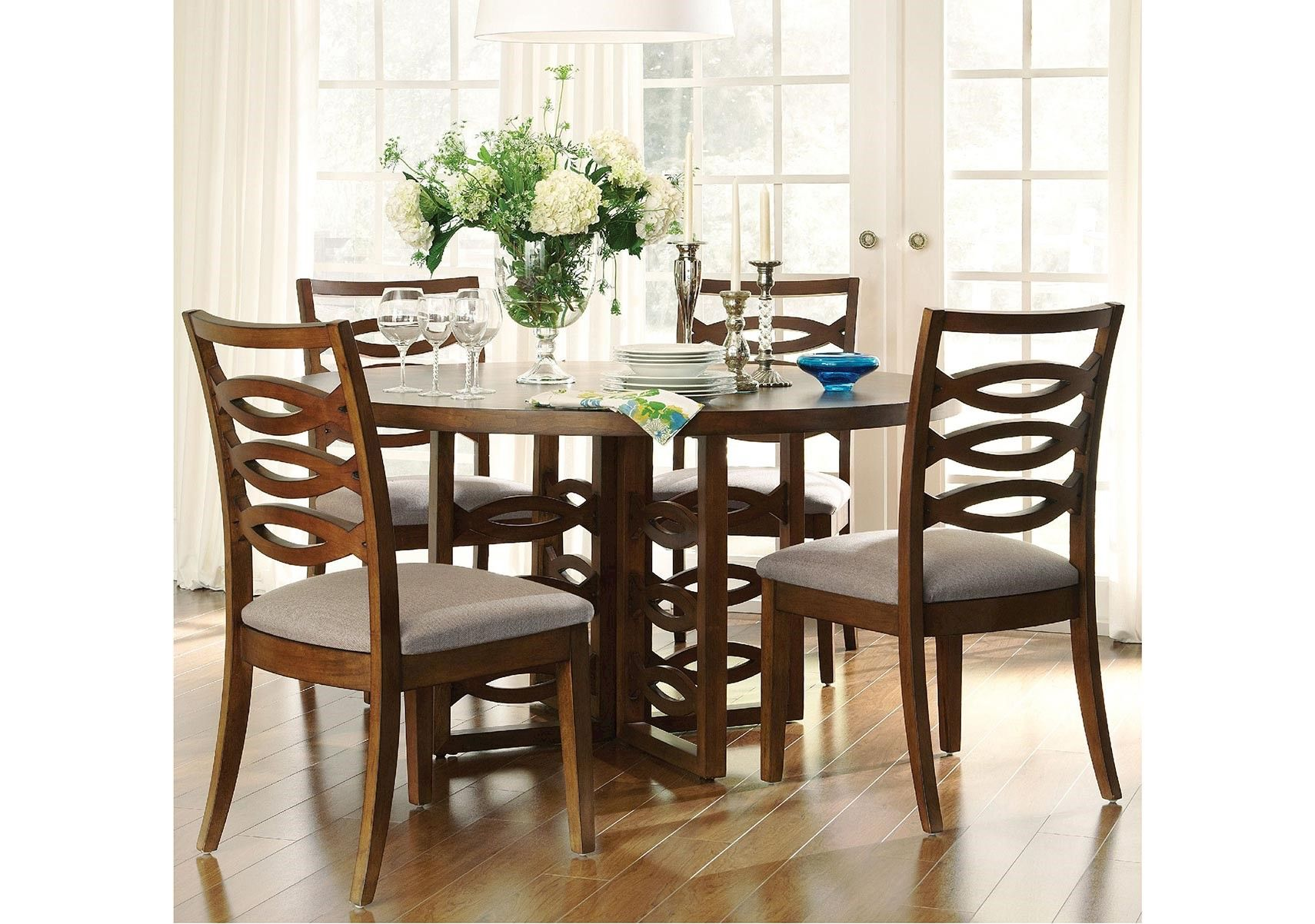 Lacks  Claire De Lune 8Pc Dining Roomful  Transitional Style Custom 8 Piece Dining Room Set Design Ideas