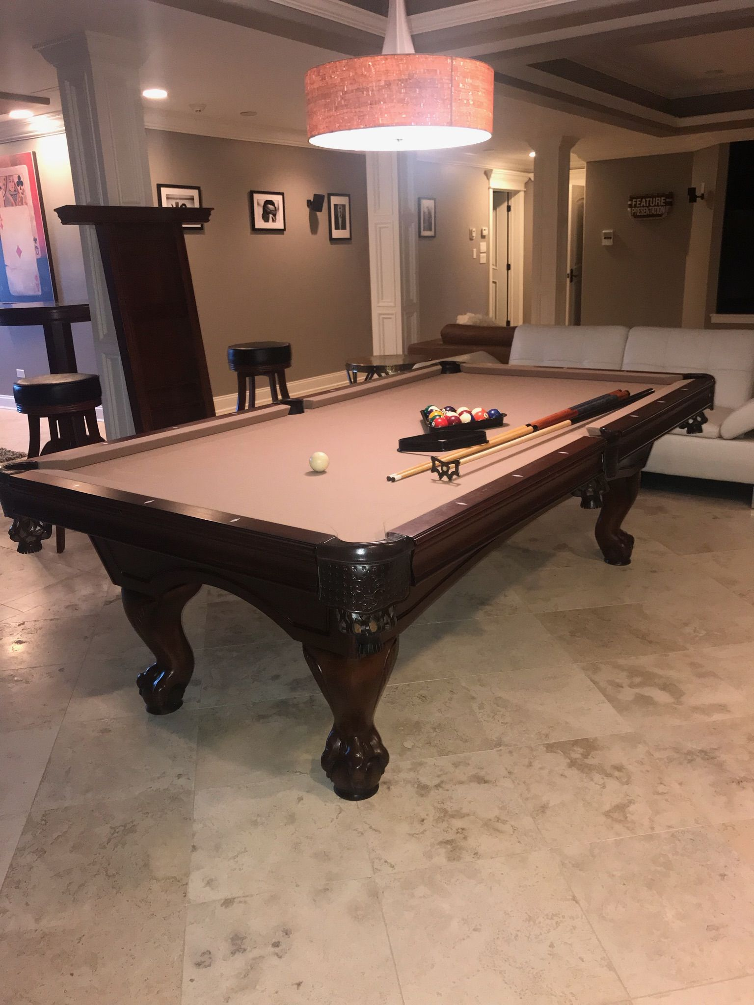 American Heritage 8 Mahogany Pool Table Pool Table Room Size