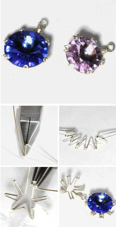 Wire wrap frame for stone. Click on image to see step-by-step ...