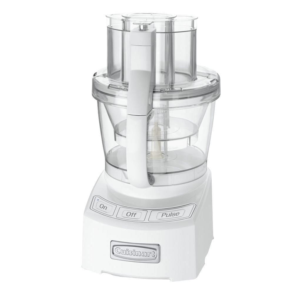 Cuisinart elite 12cup white food processor with sealtight