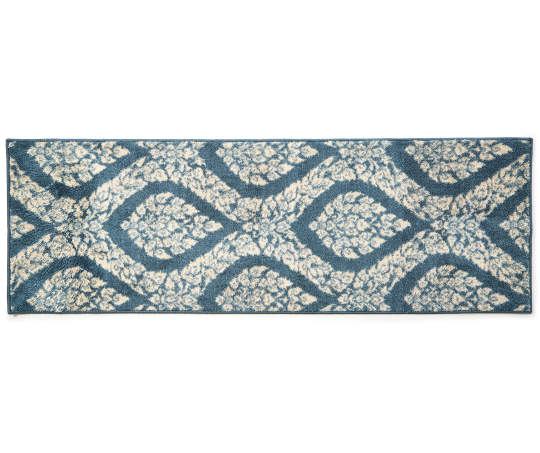 Living Colors Navy Blue Anna Marie Accent Rugs Ogee Pattern Accent Rugs Big Lots