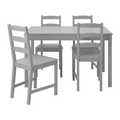 Ikea Jokkmokk Table And 4 Chairs Grey Solid Pine A Natural Material That Ages Beautifully