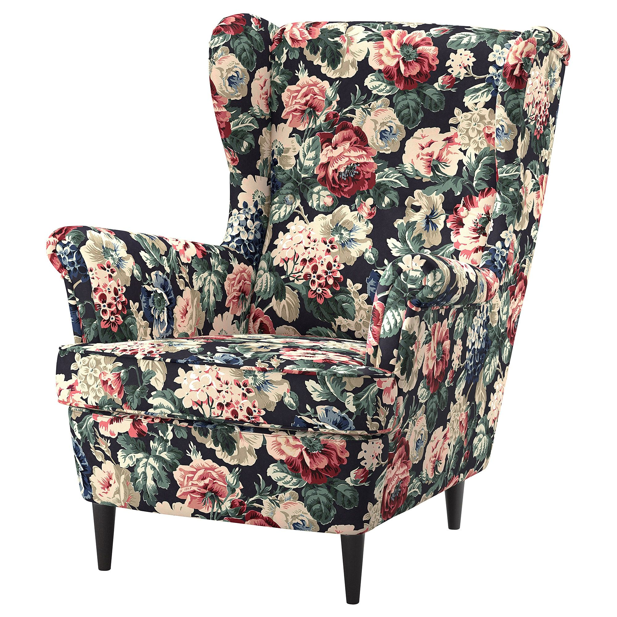 IKEA STRANDMON Lingbo Multicolor Wing chair Wing chair