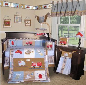 Fire Truck Baby Bedding With Dalmations And Fire Engines Baby Girl Nursery Themes Baby Crib Sets Baby Bed