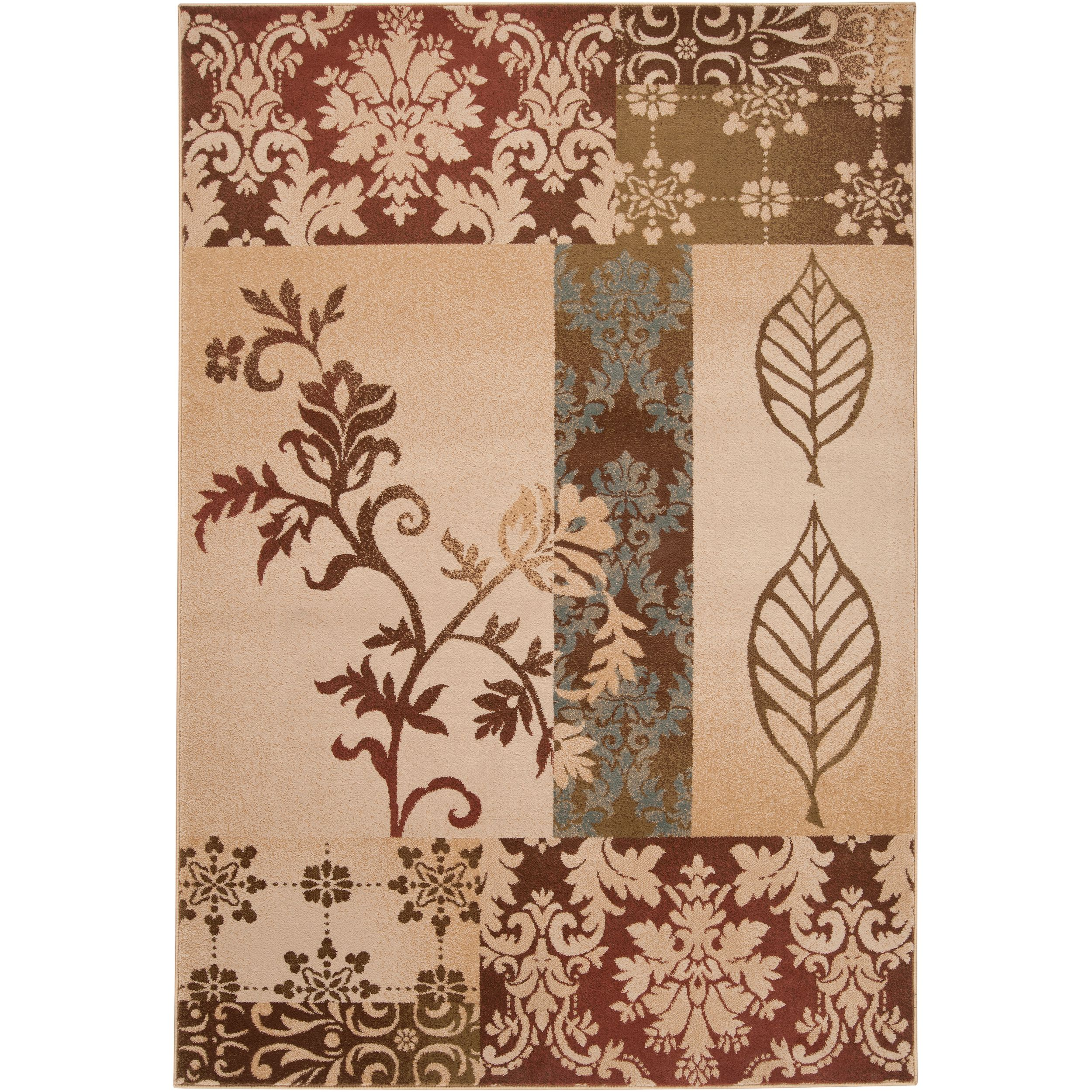 Clatsop Rug Area Throw Rugs Floral Area Rugs