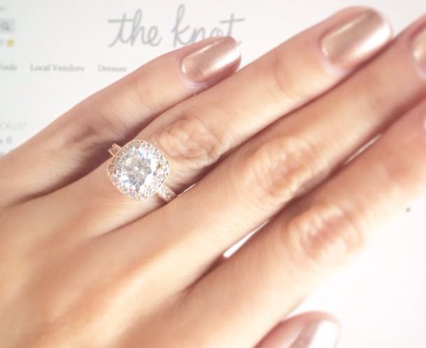 Style Expert Lilliana Vazquez Visits Adiamor In Los Angeles Custom Engagement Ring Style Expert Custom Rings
